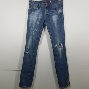 Vigoss Collection The Miami Skinny Painted Jeans